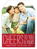 Frosted Cheers Holiday Photo Cards