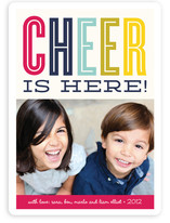 Cheer is Here Holiday Photo Cards