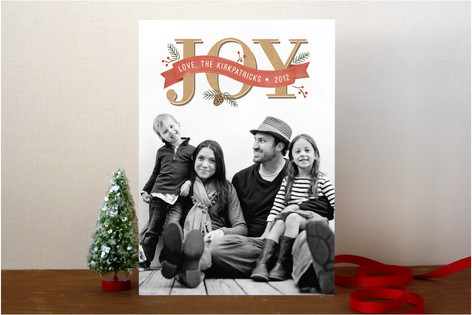 Rustic Joy Holiday Photo Cards