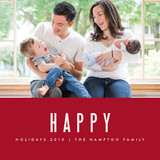 We're Happy Holiday Photo Cards By Kate Grono
