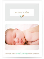 Fresh Cut Leaf Holiday Photo Cards