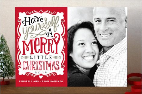 Merry Typography Holiday Photo Card from Minted.com