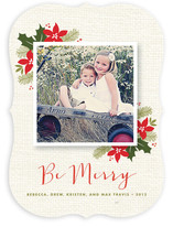 Merry Floral Holiday Photo Cards