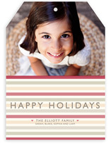 Happy Holiday Stripe Holiday Photo Cards