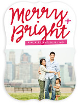 Merry Script Holiday Photo Cards