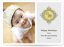 Noel Medallion Holiday Photo Cards