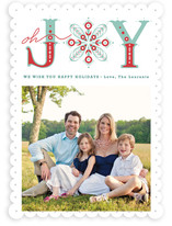 Snowflake of Joy Holiday Photo Cards