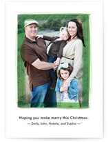 Painted Frame Holiday Photo Cards