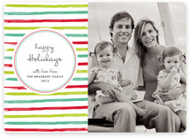 At the Beach Holiday Photo Cards