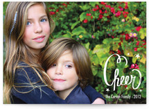 Chalked Cheer Holiday Photo Cards