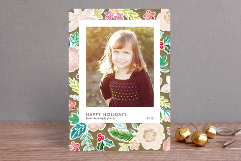 Patterned Snapshot Holiday Photo Cards