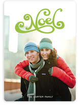 Swooshy Noel Holiday Photo Cards