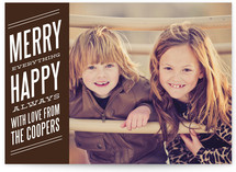Bold Banner Holiday Photo Cards