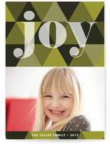 Joy Geometric Holiday Photo Cards