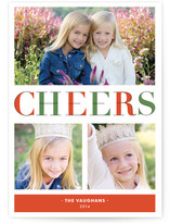 Deconstructed Cheers Holiday Photo Cards