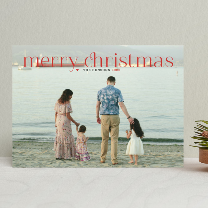 """""""Timeless Greeting"""" - Elegant, Full-Bleed Photo Holiday Photo Cards in Holly Berry by Alston Wise."""