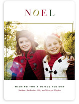 Noel Blanc Holiday Photo Cards