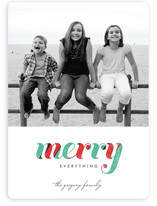De Light Stripe Holiday Photo Cards
