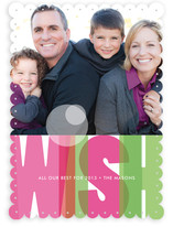 Rainbow Wish Holiday Photo Cards
