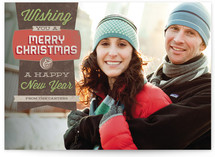 Simply Retro Holiday Photo Cards