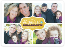 Happiest of Holidays Holiday Photo Cards
