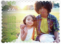Light Feathers Holiday Photo Cards