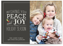 Holly Stack Holiday Photo Cards