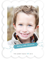 Merry Little Gift Tag Holiday Photo Cards