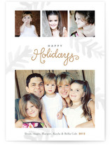 Painterly Pine Holiday Photo Cards