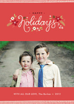 Ribbon Noel Holiday Photo Cards By Jennifer Wick