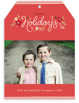 Ribbon Noel Holiday Photo Cards