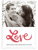 Love is in the Air Holiday Photo Cards