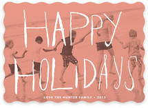 Peach Passion Holiday Photo Cards