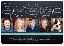 Chalkboard Quotes Holiday Photo Cards