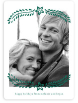 Block Printed Mistletoe Holiday Photo Cards