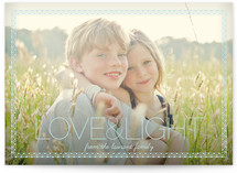 Pretty Frame Holiday Photo Cards