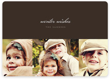 Sable and Sparkle Holiday Photo Cards