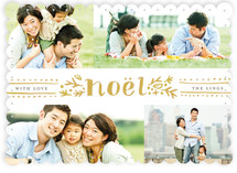 Dotted Noel Holiday Photo Cards