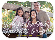You Make Our Spirits Bright Holiday Photo Cards