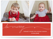 Be Merry Handwriting Holiday Photo Cards