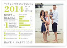 Family Year in Review Holiday Photo Cards
