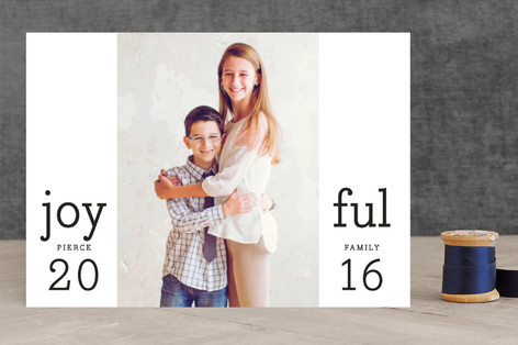 Joyful Time Holiday Photo Cards