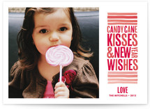 Candy Cane Kisses Holiday Photo Cards