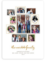 Family Wall Holiday Photo Cards