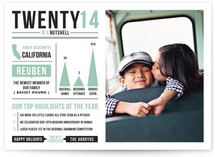 Year in a Nutshell Holiday Photo Cards