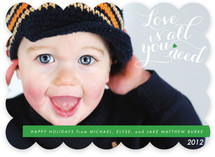 Love is All You Need Holiday Photo Cards