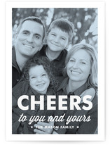 Modern Tint Holiday Photo Cards