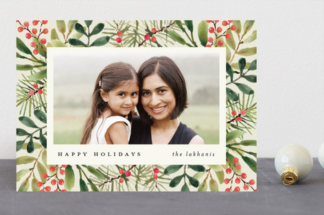 Tropical Pine Holiday Photo Cards