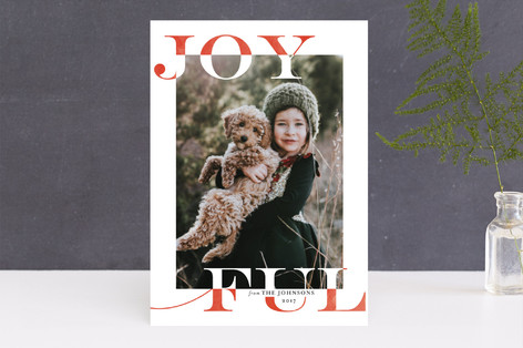 Joy Swash Ful Holiday Photo Cards
