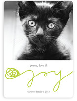 Peace, Love & Yarn Holiday Photo Cards